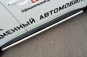 Mitsubishi Outlander 2014- Пороги труба d63 (вариант 3) MORT-001895